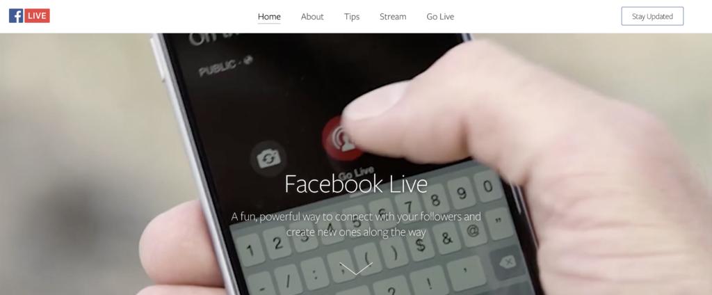 Facebook Liveのスクリーンショット